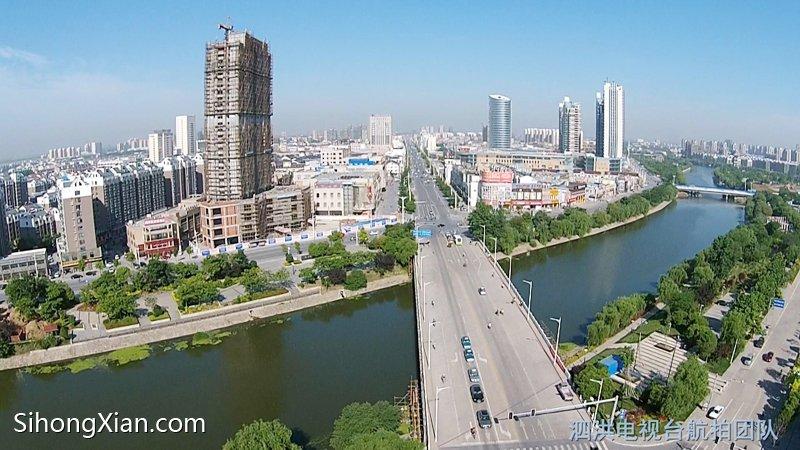 空中看泗洪系列图片 泗洪城市全景图片 【泗洪电视台航拍团队】