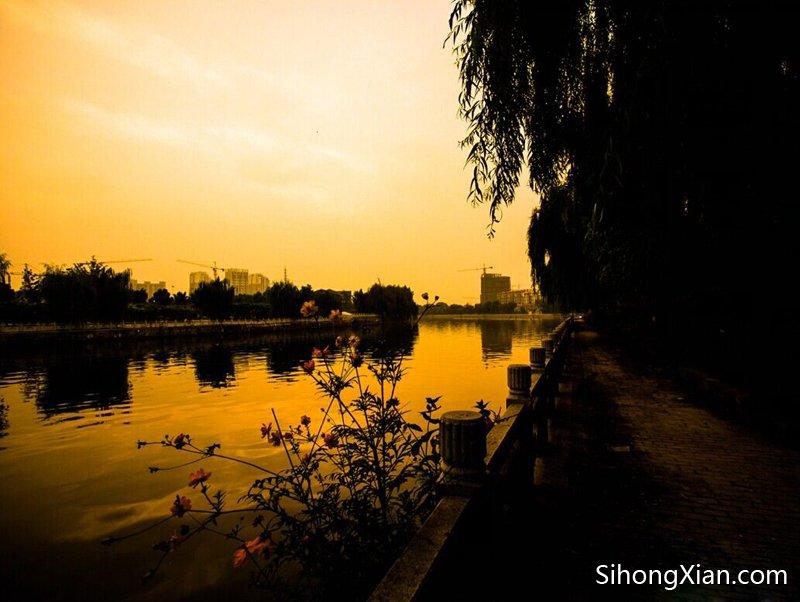 泗洪汴河夜色 泗洪夜景图片 泗洪城区夜景写真