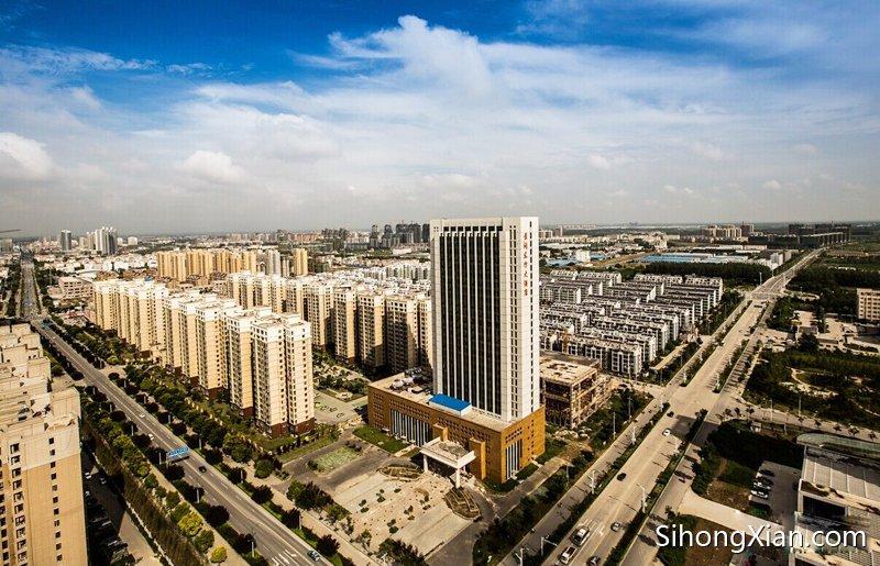 泗洪城东随拍 泗洪最新高空鸟瞰图片 泗洪城市最新图片