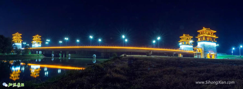 泗洪古徐大桥夜色风情 泗洪古徐城图片