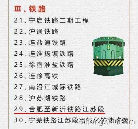 2017江苏重大项目集中开工 泗洪人关心的合青高铁也在内