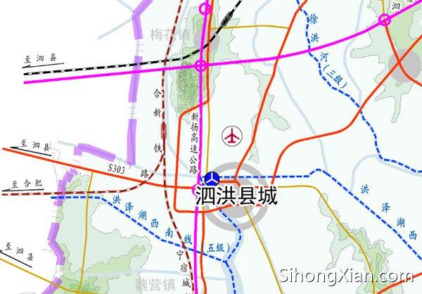 2,合宿新铁路:客运专线,连通合肥与新沂,继续向北可达青岛,宿迁