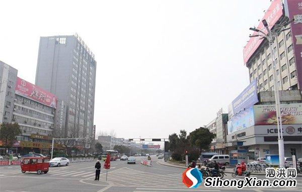 泗洪县建设南路新貌