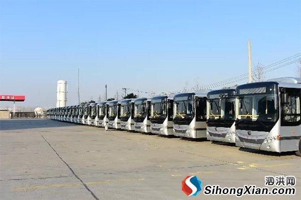 泗洪116路12台电动公交车1月3日正式投入运营