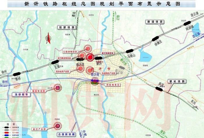 新沂铁路枢纽规划图