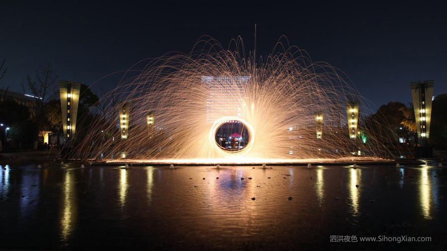 泗洪夜景图片