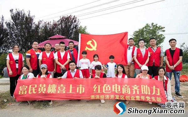 党支部+电商助力泗洪祖姚黄桃热销