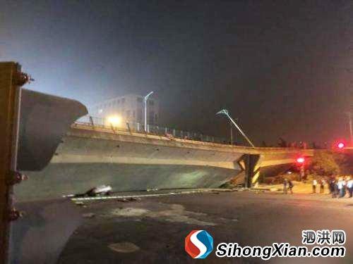 无锡高架桥坍塌 伤亡情况不明